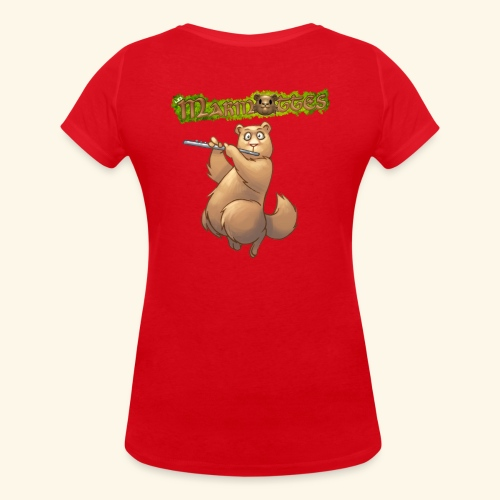 Tshirt Flute dos 2 - T-shirt bio col V Stanley & Stella Femme