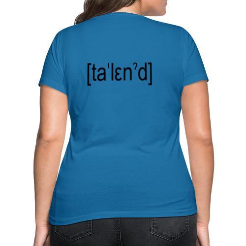Talent - Økologisk Stanley & Stella T-shirt med V-udskæring til damer