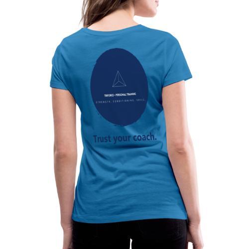 Triforce blend (blue) - Trust your coach - Frauen Bio-T-Shirt mit V-Ausschnitt von Stanley & Stella