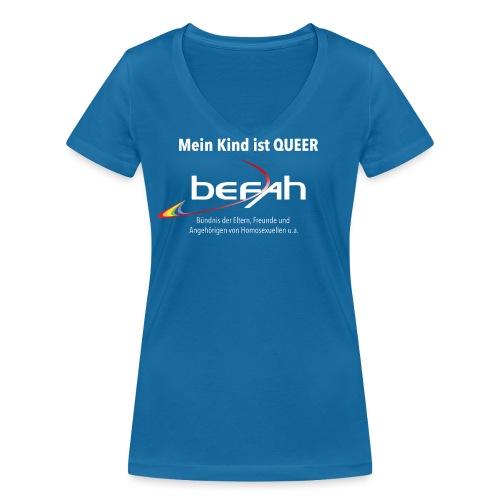 befah front - Frauen Bio-T-Shirt mit V-Ausschnitt von Stanley & Stella