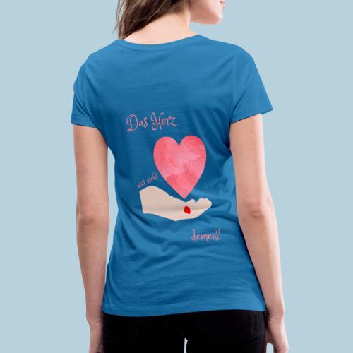 Das Herz wird nicht dement! Demenzbetreuung Pflege - Frauen Bio-T-Shirt mit V-Ausschnitt von Stanley & Stella