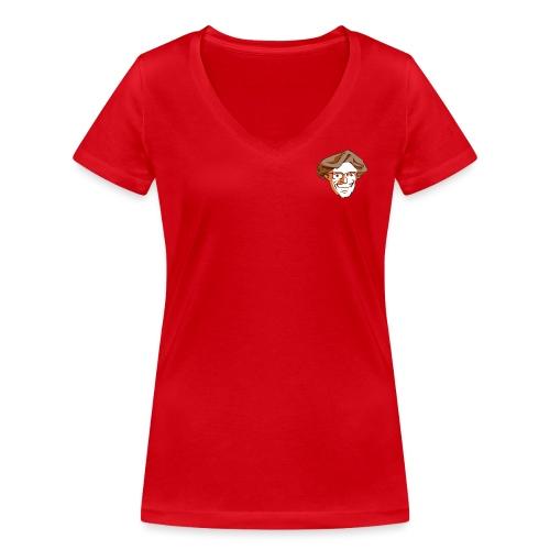 Kopf1-Baumstriezel_RGB - Frauen Bio-T-Shirt mit V-Ausschnitt von Stanley & Stella