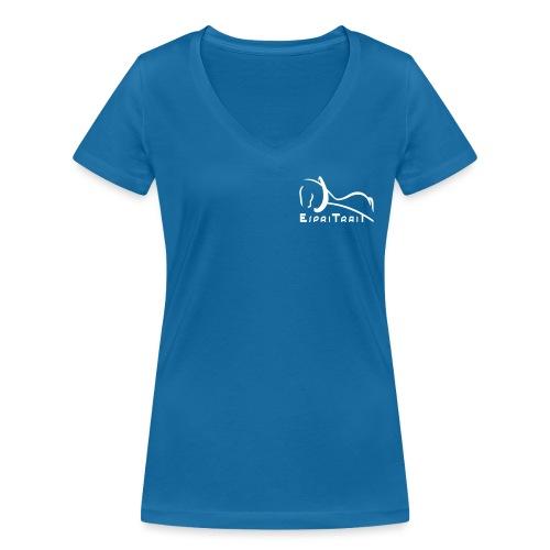 espritrait4 - T-shirt bio col V Stanley & Stella Femme