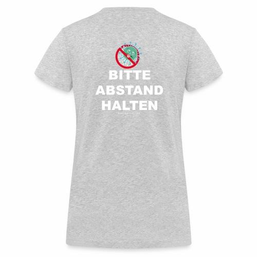 SpreadAbstandHalten2 - Frauen Bio-T-Shirt mit V-Ausschnitt von Stanley & Stella
