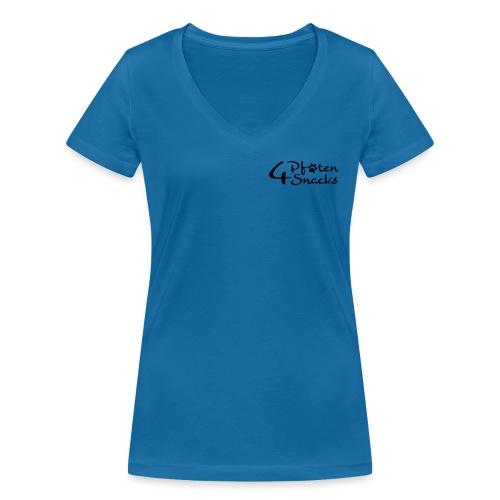 logo_4pfoten_neu_CMYK - Frauen Bio-T-Shirt mit V-Ausschnitt von Stanley & Stella