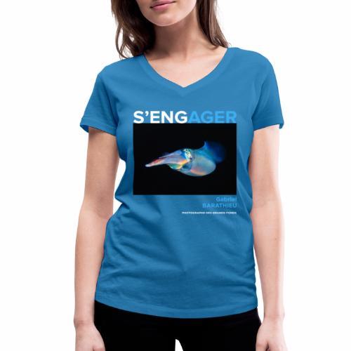 1 Achat = 1 Don à l'association Deep blue explore - T-shirt bio col V Stanley & Stella Femme
