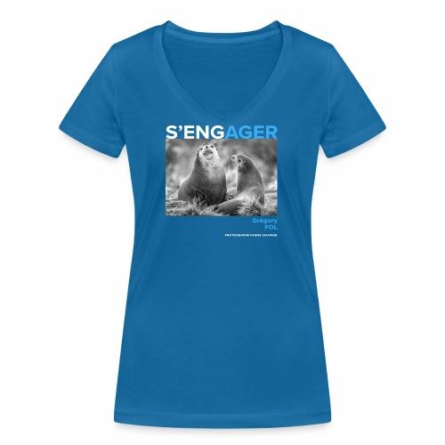 1 Achat = 1 Don au Centre de soin LPO Aquitaine - T-shirt bio col V Stanley & Stella Femme