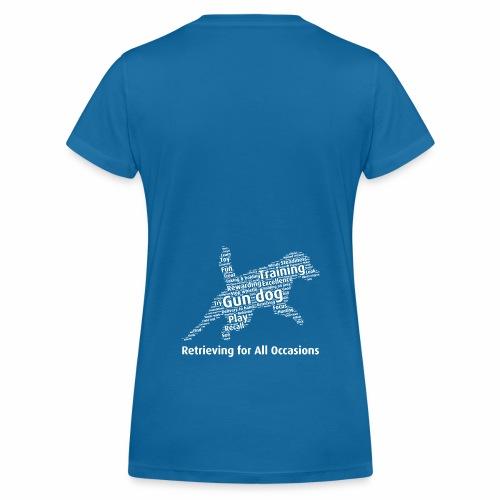 Retrieving for All Occasions wordcloud vitt - Ekologisk T-shirt med V-ringning dam från Stanley & Stella