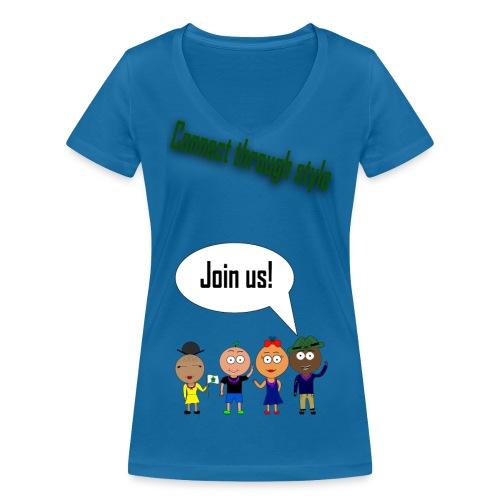 Front 2 png - Økologisk Stanley & Stella T-shirt med V-udskæring til damer