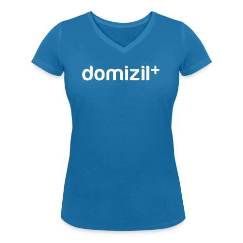 domizilplus_Logo_komplett - Frauen Bio-T-Shirt mit V-Ausschnitt von Stanley & Stella