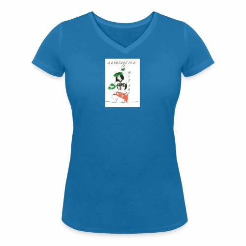 logo fond transparent - T-shirt bio col V Stanley & Stella Femme