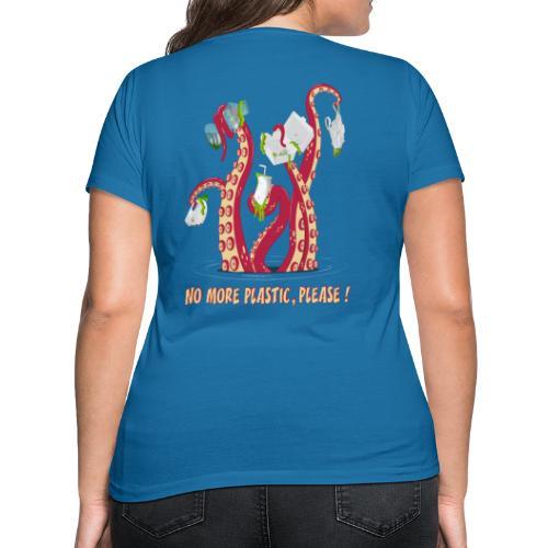 No more plastic ! - T-shirt bio col V Stanley & Stella Femme