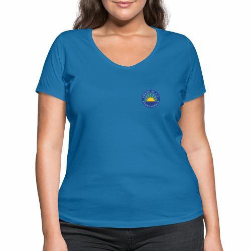 Sonne 08 front/back - Frauen Bio-T-Shirt mit V-Ausschnitt von Stanley & Stella