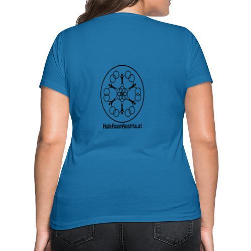 Hula Hoop Austria Logo Black - Frauen Bio-T-Shirt mit V-Ausschnitt von Stanley & Stella