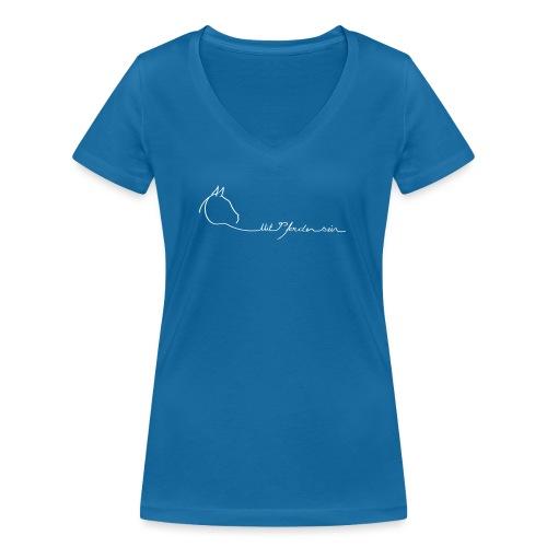 MPS Logoschriftzug kl. Dreamhorse - Frauen Bio-T-Shirt mit V-Ausschnitt von Stanley & Stella
