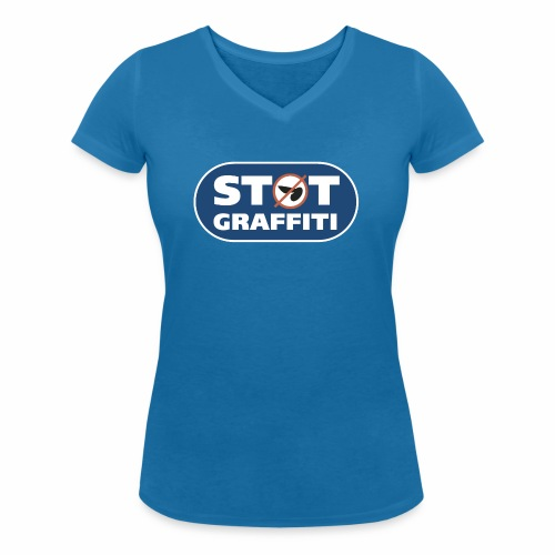 støt graffiti ver 0 2 - Økologisk Stanley & Stella T-shirt med V-udskæring til damer