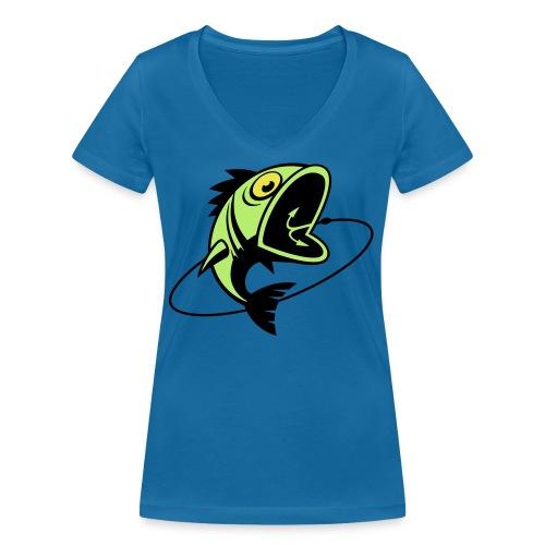 VL107B_BigFish_3c - Frauen Bio-T-Shirt mit V-Ausschnitt von Stanley & Stella