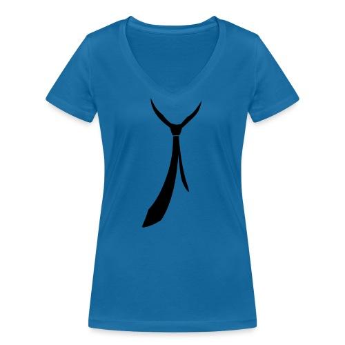 JUSTSOMEMOTION - Black Tie T-Shirts - Frauen Bio-T-Shirt mit V-Ausschnitt von Stanley & Stella