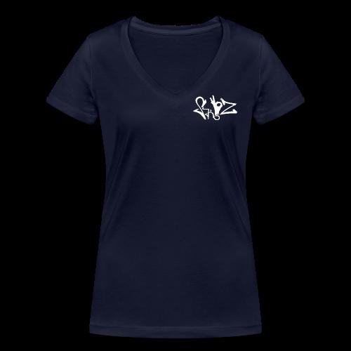 OK HAND - Frauen Bio-T-Shirt mit V-Ausschnitt von Stanley & Stella