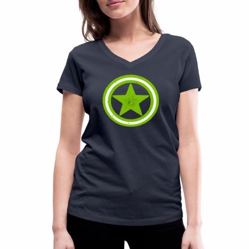 Vegan Vegetarier Lifestyle Shirt T-Shirt Geschenk - Frauen Bio-T-Shirt mit V-Ausschnitt von Stanley & Stella