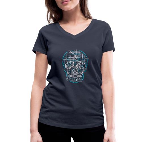electric skull tshirt ✅ - Frauen Bio-T-Shirt mit V-Ausschnitt von Stanley & Stella