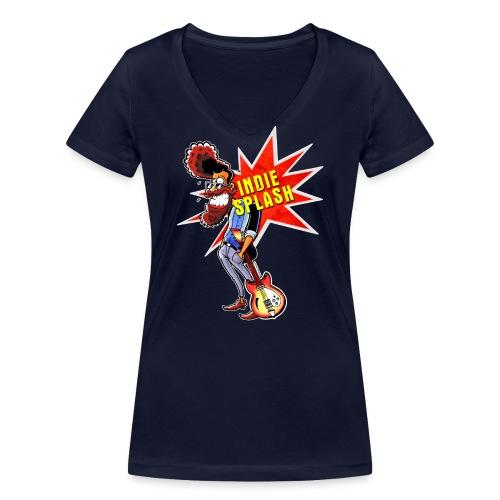 Indie Splash - Frauen Bio-T-Shirt mit V-Ausschnitt von Stanley & Stella