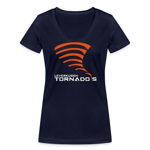 Vereinslogo der Leverkusen Tornados - Frauen Bio-T-Shirt mit V-Ausschnitt von Stanley & Stella