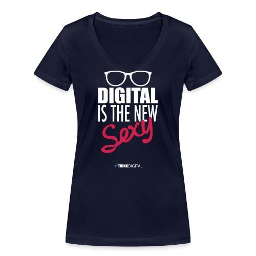 DIGITAL is the New Sexy - Lady - T-shirt ecologica da donna con scollo a V di Stanley & Stella