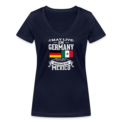 Mexican In Germany - Frauen Bio-T-Shirt mit V-Ausschnitt von Stanley & Stella