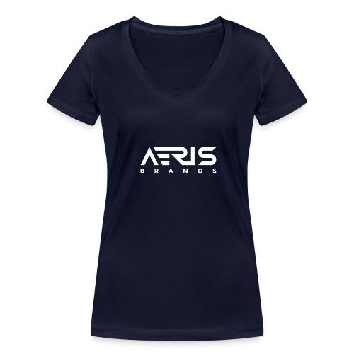 AB White - Frauen Bio-T-Shirt mit V-Ausschnitt von Stanley & Stella