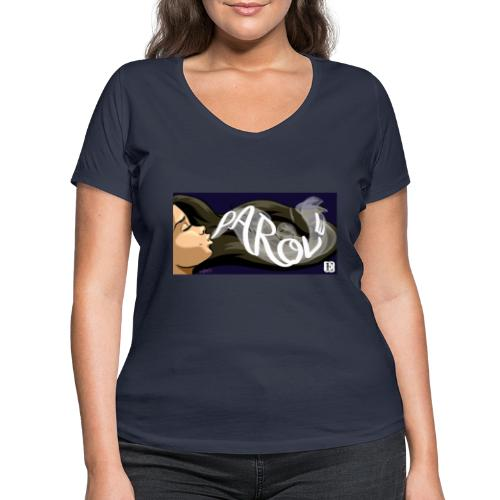 Parole - T-shirt ecologica da donna con scollo a V di Stanley & Stella