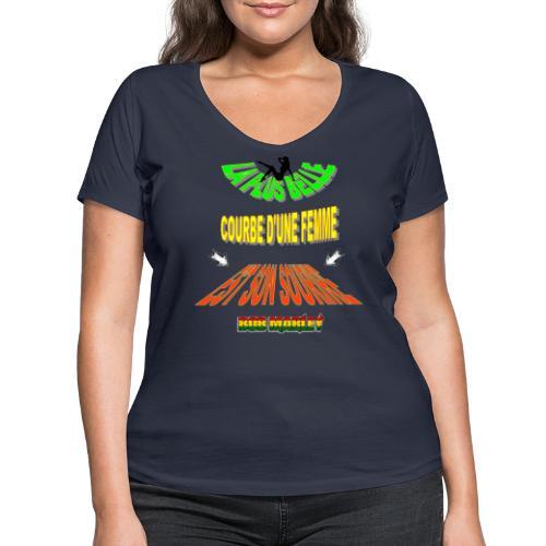 LA PLUS BELLE 👩👍 - T-shirt bio col V Stanley & Stella Femme