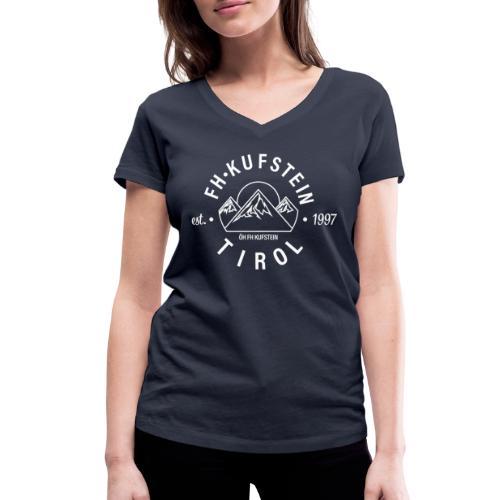 FH Kufstein Tirol - Frauen Bio-T-Shirt mit V-Ausschnitt von Stanley & Stella