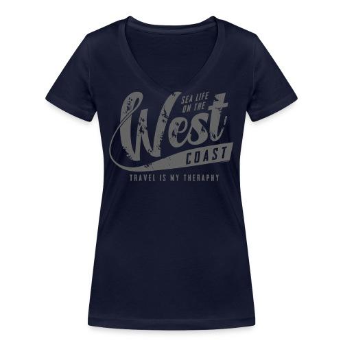 West Coast Sea Surfer Textiles, Gifts, Products - Stanley & Stellan naisten v-aukkoinen luomu-T-paita