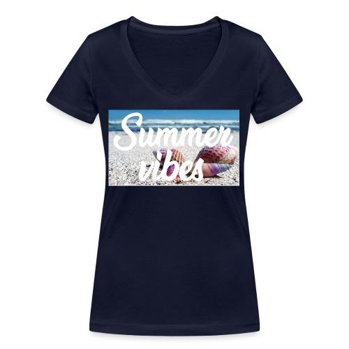 Summervibes - Frauen Bio-T-Shirt mit V-Ausschnitt von Stanley & Stella