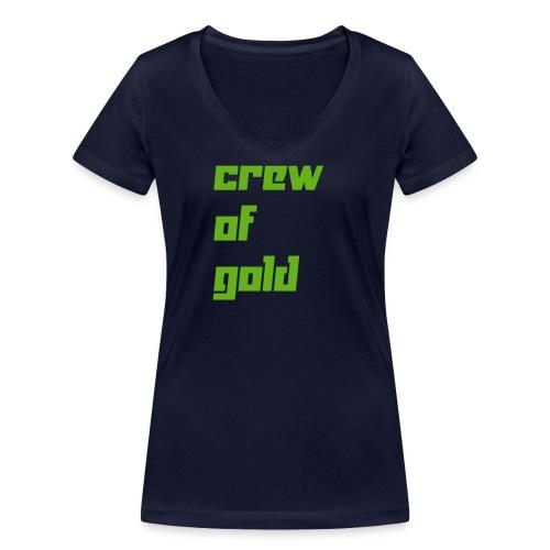 crew - T-shirt ecologica da donna con scollo a V di Stanley & Stella