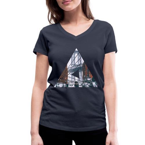 Manhattan Bridge of Brooklyn New York City - Frauen Bio-T-Shirt mit V-Ausschnitt von Stanley & Stella