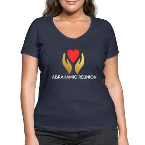 Abrahamic Reunion - Women's Organic V-Neck T-Shirt by Stanley & Stella