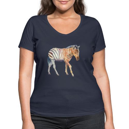 Zebra grants - Økologisk Stanley & Stella T-shirt med V-udskæring til damer