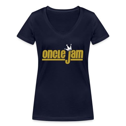 Oncle Jam horizontal or - T-shirt bio col V Stanley & Stella Femme