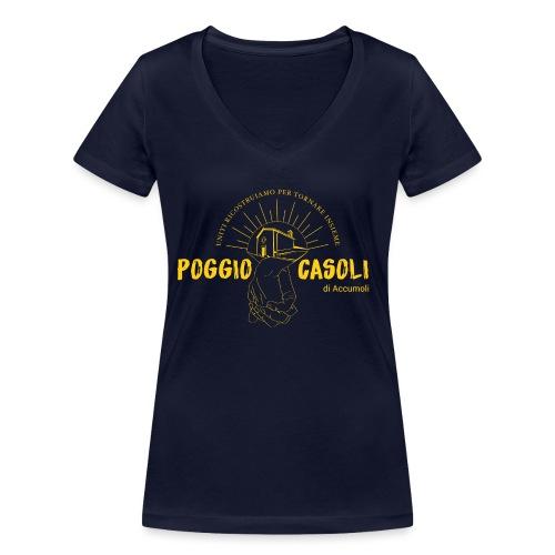 Poggio Casoli_Istituzionale_Giallo - T-shirt ecologica da donna con scollo a V di Stanley & Stella