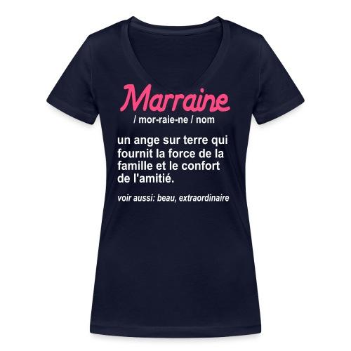 Marraine Définition - T-shirt bio col V Stanley & Stella Femme
