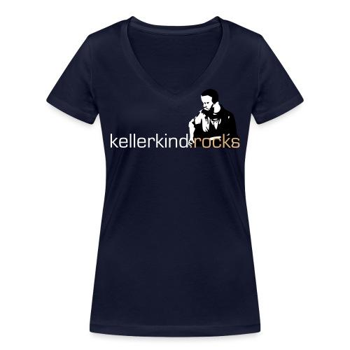 rocks logo full small - Frauen Bio-T-Shirt mit V-Ausschnitt von Stanley & Stella