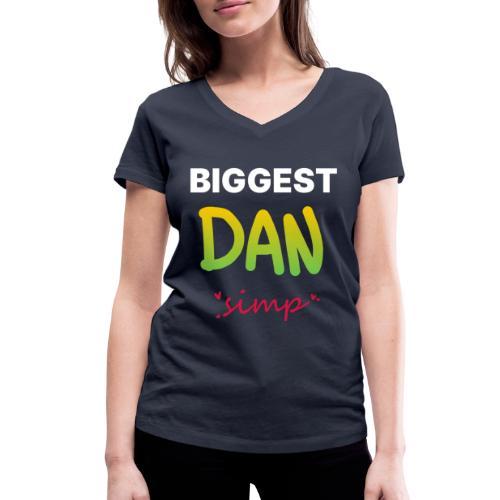 We all simp for Dan - Økologisk Stanley & Stella T-shirt med V-udskæring til damer