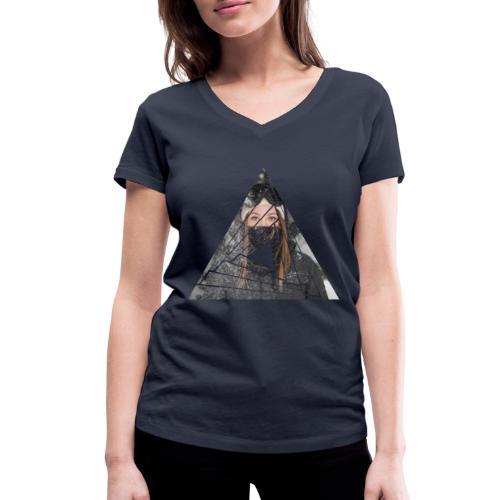 Snow Girl Triangle Graphic Design - Frauen Bio-T-Shirt mit V-Ausschnitt von Stanley & Stella