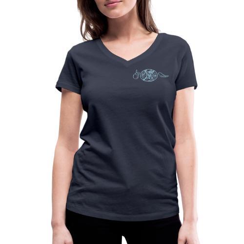 SABRO Uden Tekst - Økologisk Stanley & Stella T-shirt med V-udskæring til damer