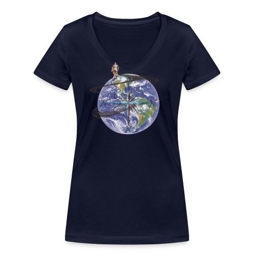 homme terre expression - T-shirt bio col V Stanley & Stella Femme