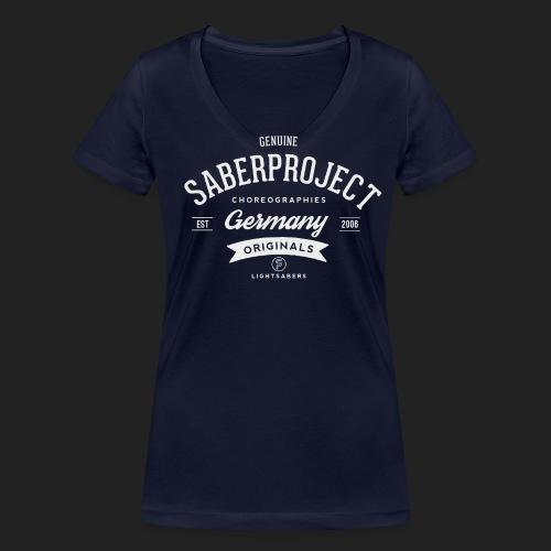 SP Originals - weiß - Frauen Bio-T-Shirt mit V-Ausschnitt von Stanley & Stella