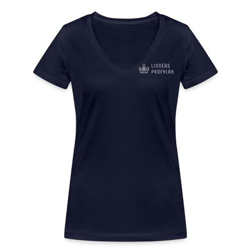 horizontal on white by logaster - Ekologisk T-shirt med V-ringning dam från Stanley & Stella