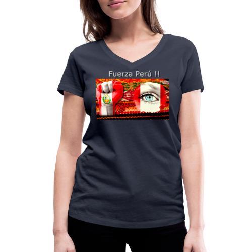 Telar Fuerza Peru I - Camiseta ecológica mujer con cuello de pico de Stanley & Stella
